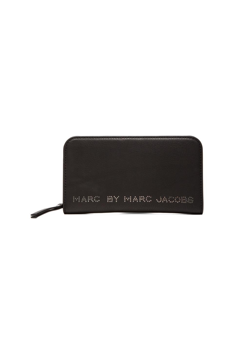 Marc by Marc Jacobs Sweet Jane Medium Zip Wallet in Black