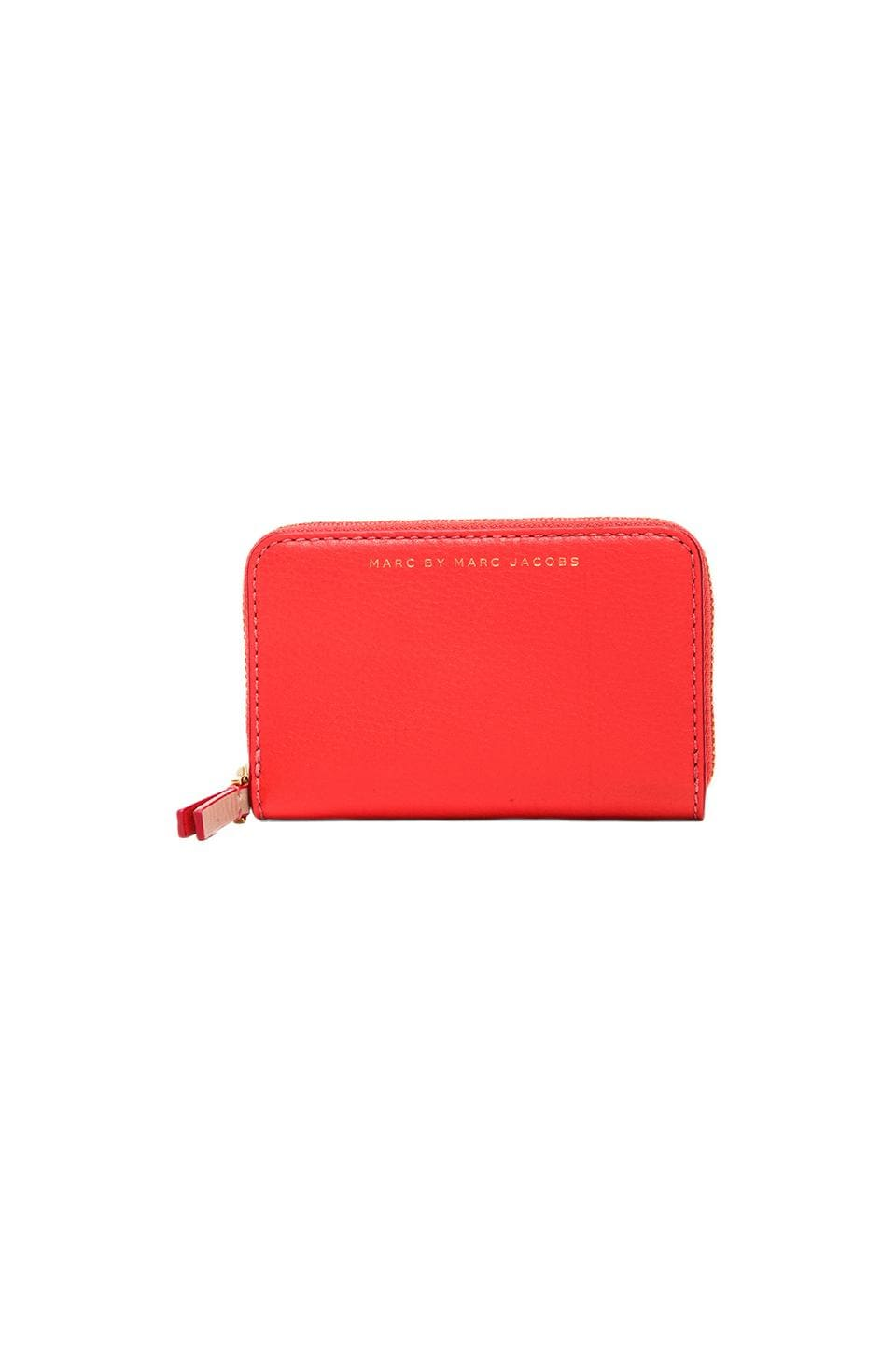 Marc by Marc Jacobs Sophisticato Zip Card Case in Vibrant Orange Multi