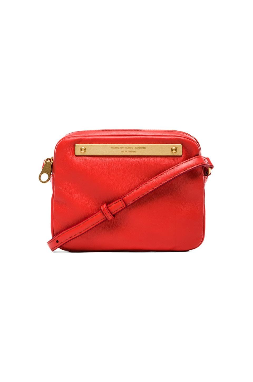 Marc by Marc Jacobs Goodbye Columbus Mireu Crossbody in Vibrant Orange