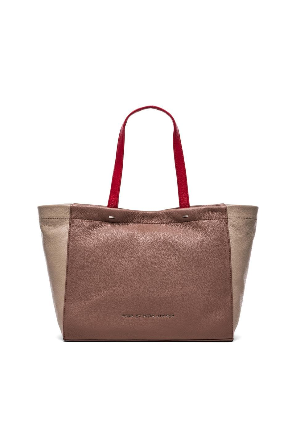 Marc by Marc Jacobs What's the T Leather Tote in Woodland Multi