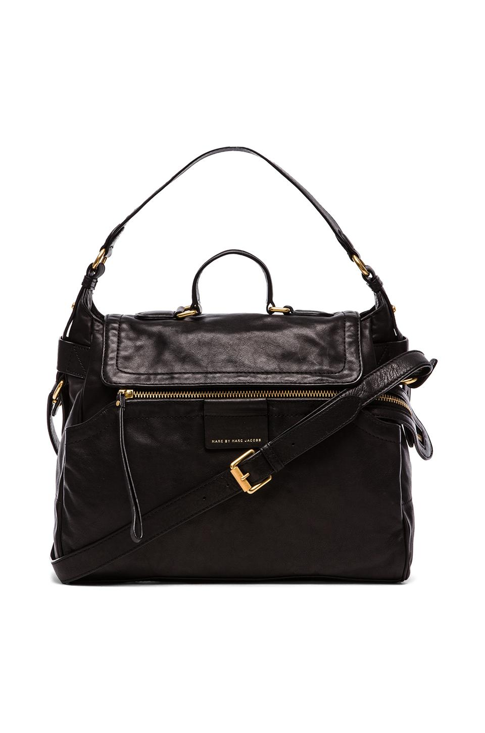 Marc by Marc Jacobs Moto Satchel in Black