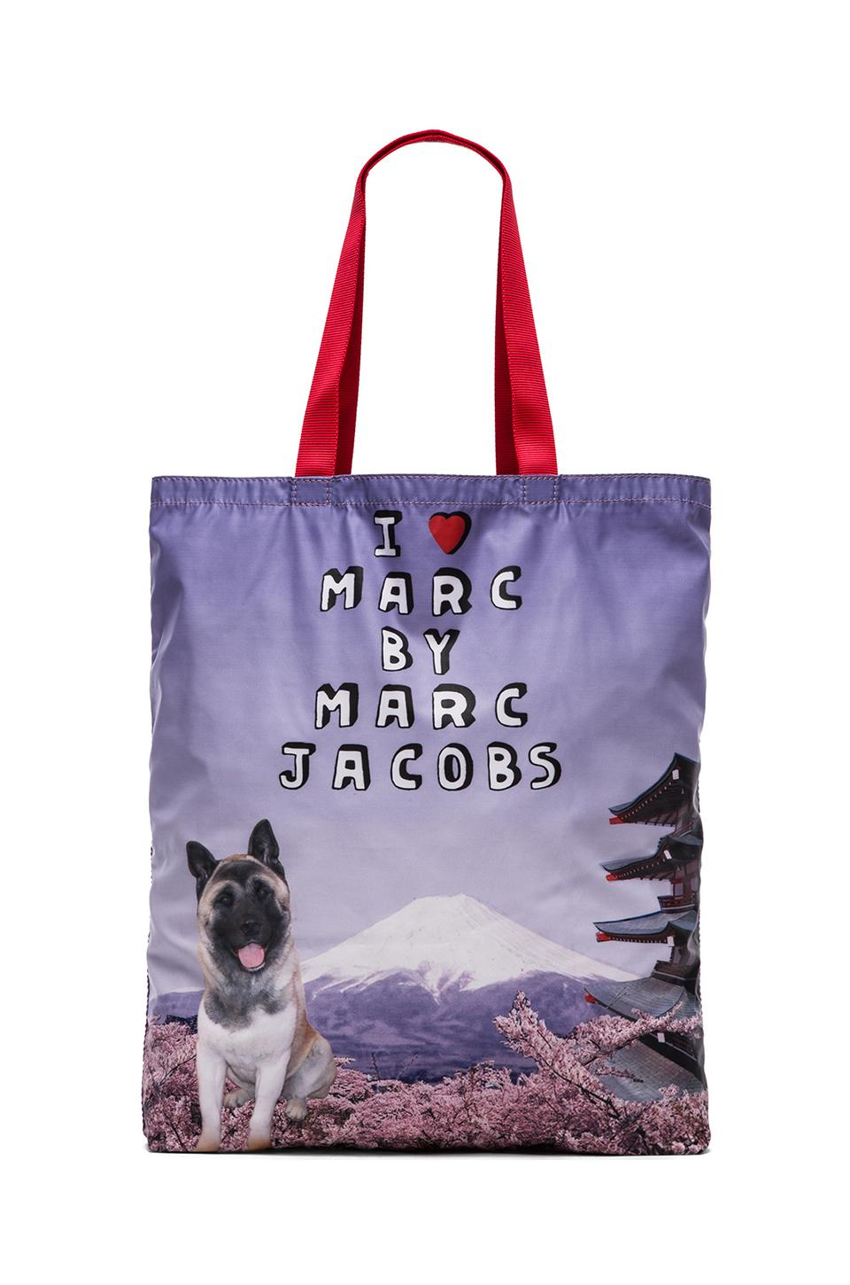 Marc by Marc Jacobs Jet Set Pets Akami Tokyo Tote in Pastel Purple Multi