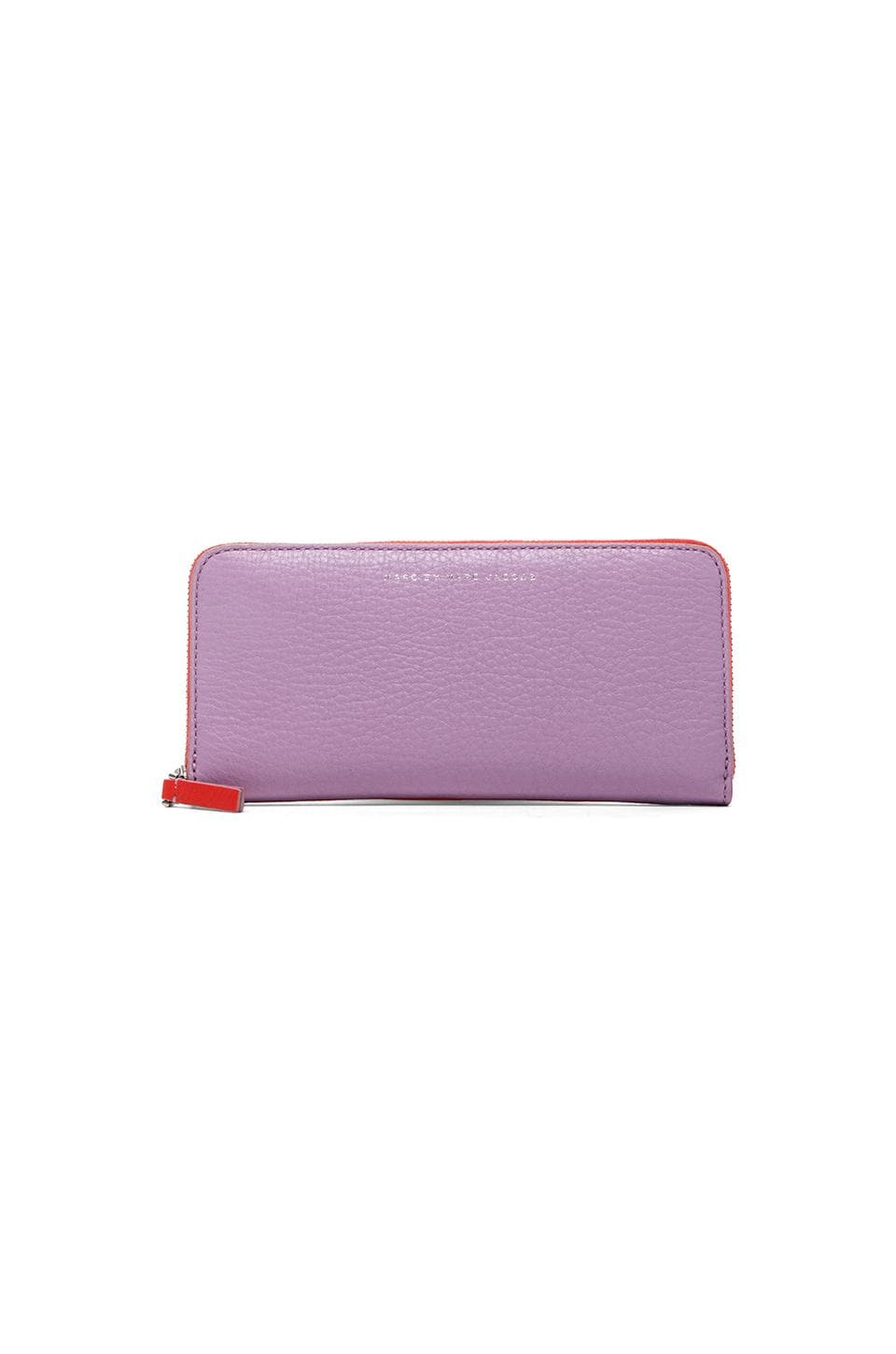 Marc by Marc Jacobs Sophisticato Slim Zip Around Wallet in Pastel Purple Multi