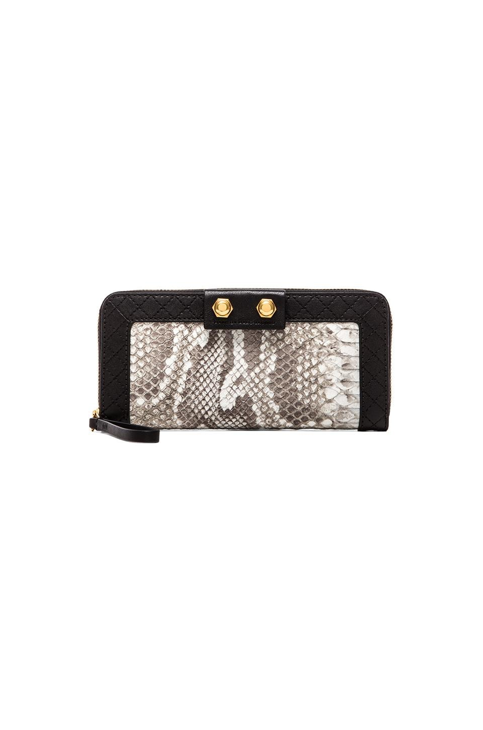Marc by Marc Jacobs Lady Moto Snake Slim Zip Wallet in Black Multi