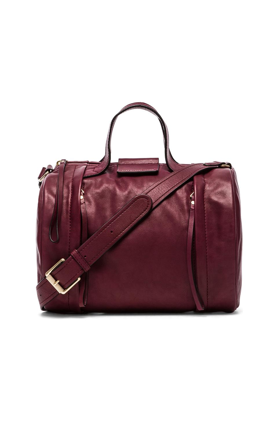 Marc by Marc Jacobs Moto Duffle in Washed Oxblood