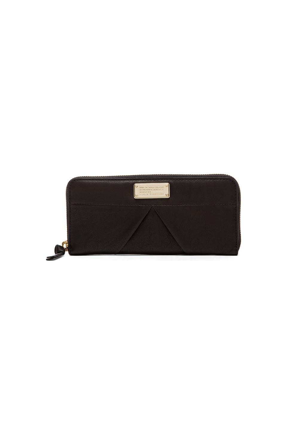 Marc by Marc Jacobs Marchive Slim Zip Around Wallet in Black