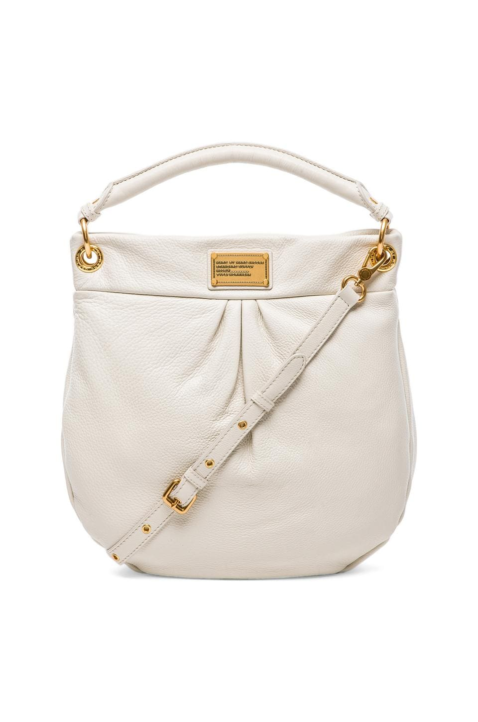 Marc by Marc Jacobs Classic Q Hillier Hobo in White Birch