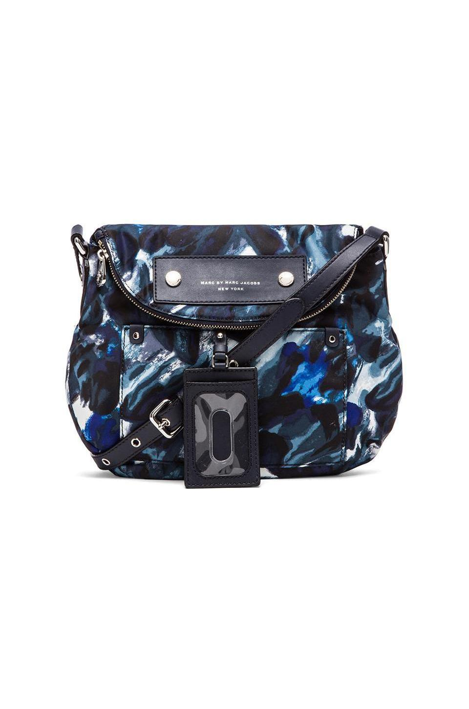 Marc by Marc Jacobs Preppy Nylon Painterly Blue Print Natasha in Blue Multi