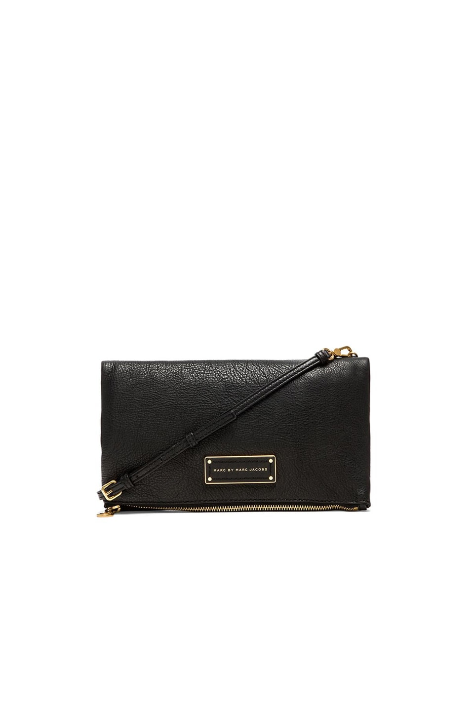 Marc by Marc Jacobs Too Hot to Party Chalky Liz Fold Over Clutch in Black
