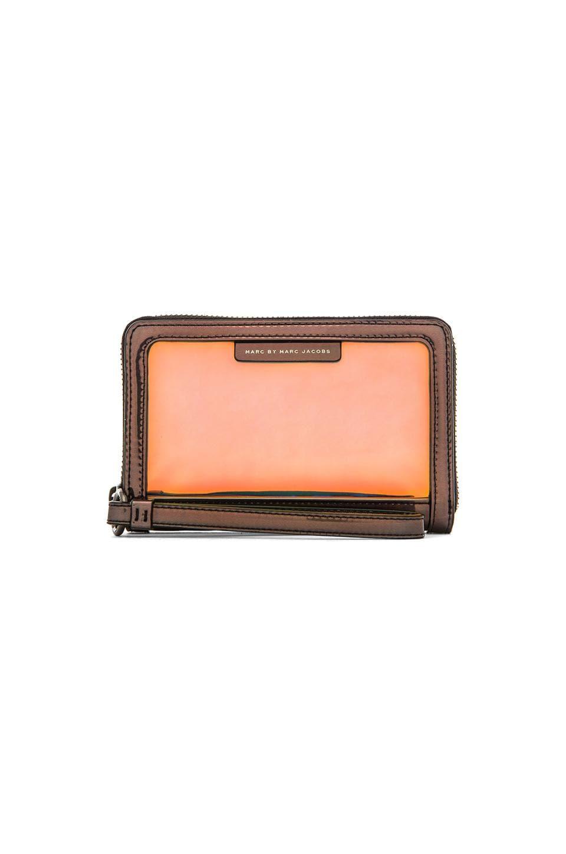 Marc by Marc Jacobs Crystal Clear Wingman Wallet in Gunmetal Multi