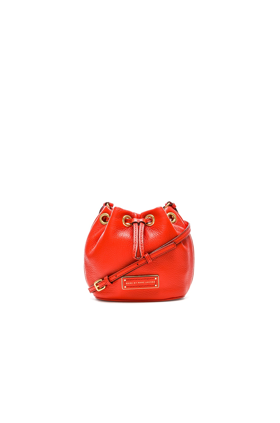 14ce0869988ea Marc by Marc Jacobs Too Hot to Handle Mini Drawstring Bucket Bag in Bright  Tangelo