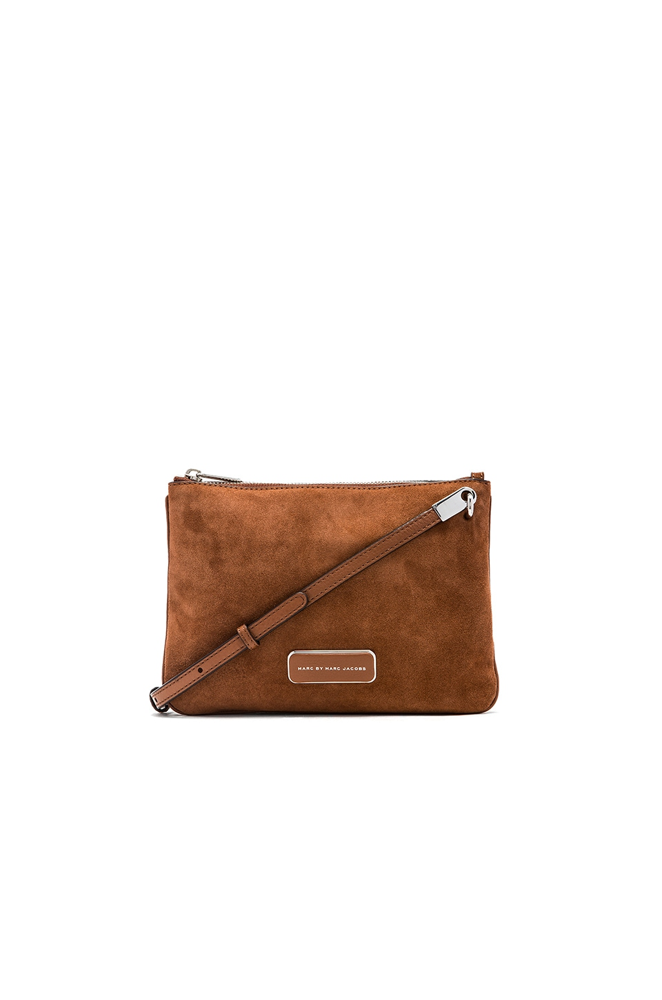 Marc by Marc Jacobs Ligero Sporty Suede Double Percy Crossbody in Cinamon Stick