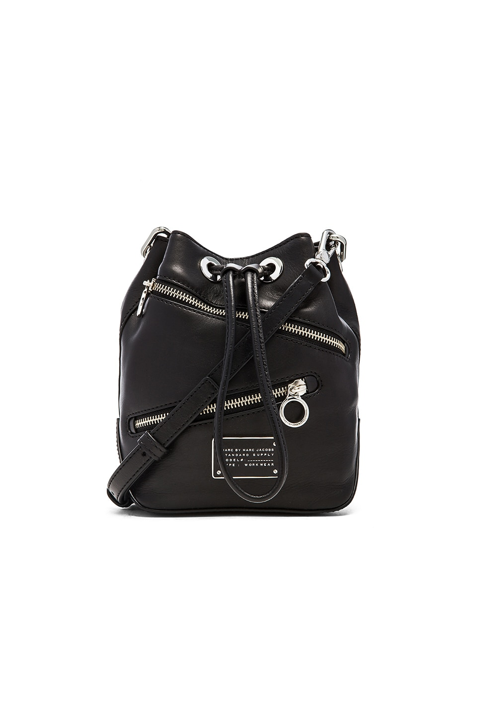 Marc by Marc Jacobs New Too Hot To Handle Zippers Small Bucket Bag in Black