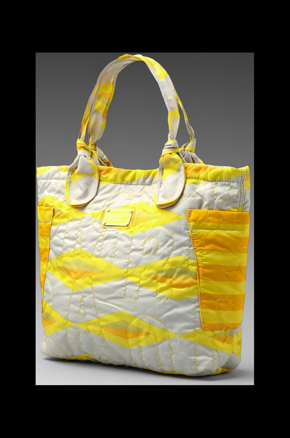 Marc by Marc Jacobs Pretty Nylon Haley Diamond Medium Tote in Lemon Custard Multi