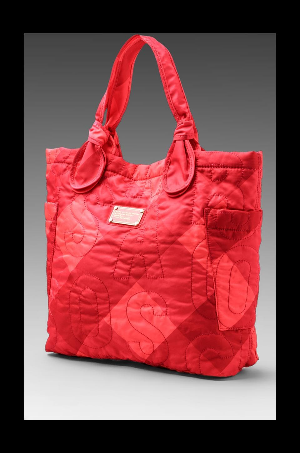 Marc by Marc Jacobs Pretty Nylon Stacey Check Medium Tote in Poppy Pink Multi