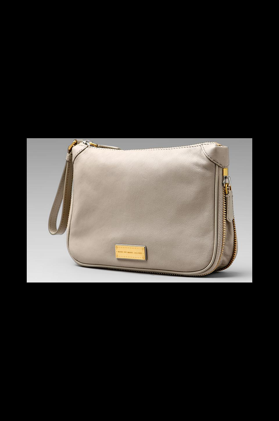 Marc by Marc Jacobs Washed Up Zip Clutch in Uniform Taupe