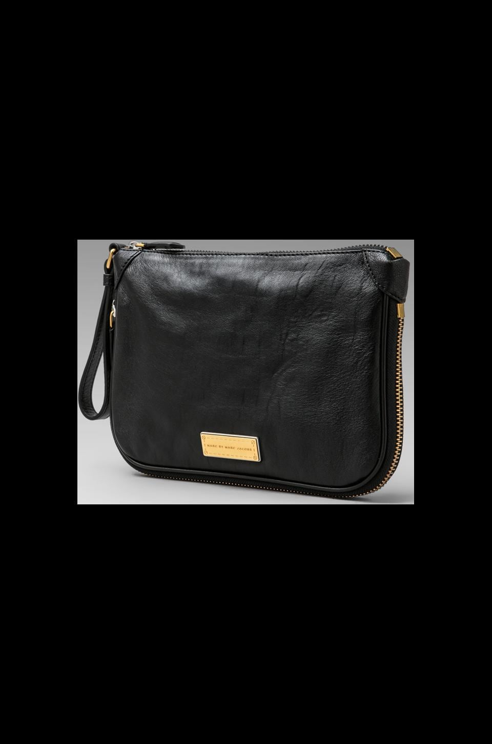 Marc by Marc Jacobs Washed Up Zip Clutch in Black