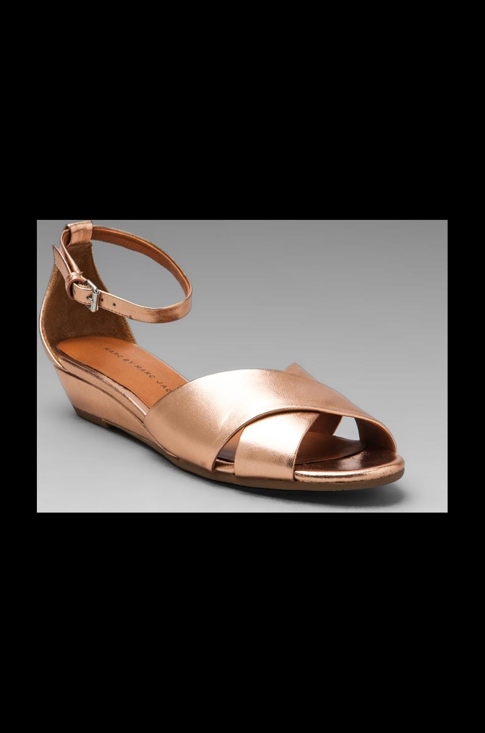 Marc by Marc Jacobs Classic Sandal Wedge in Rose Gold