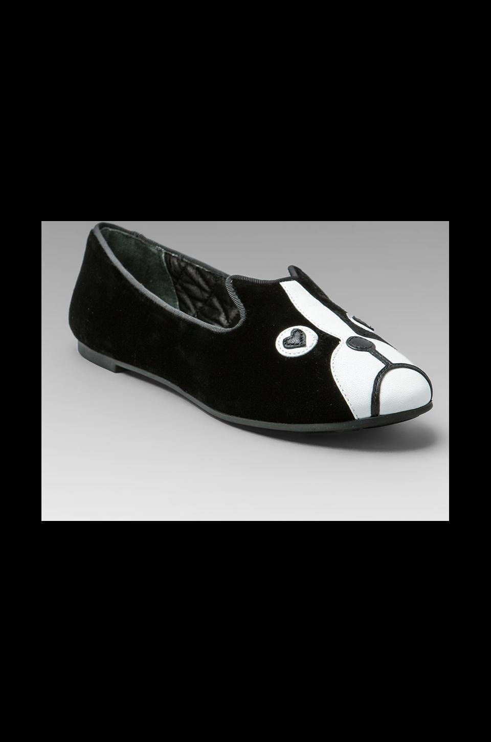 Marc by Marc Jacobs Friends of Mine Shorty Loafer in Black/White/Black/Black