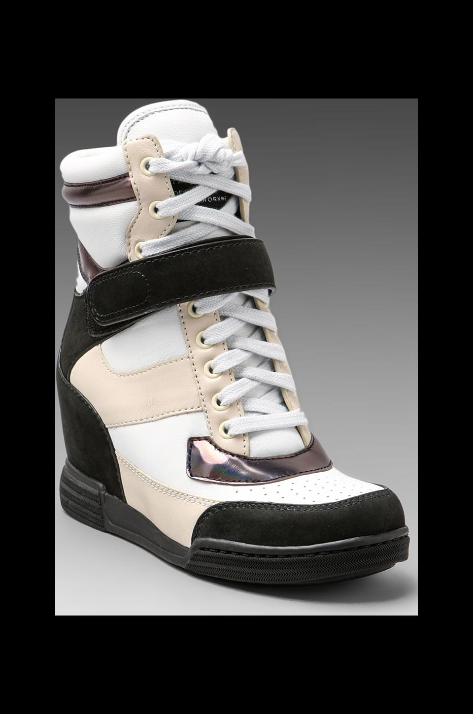 Marc by Marc Jacobs Sneaker Wedge in Black/Black/White/Oatmeal