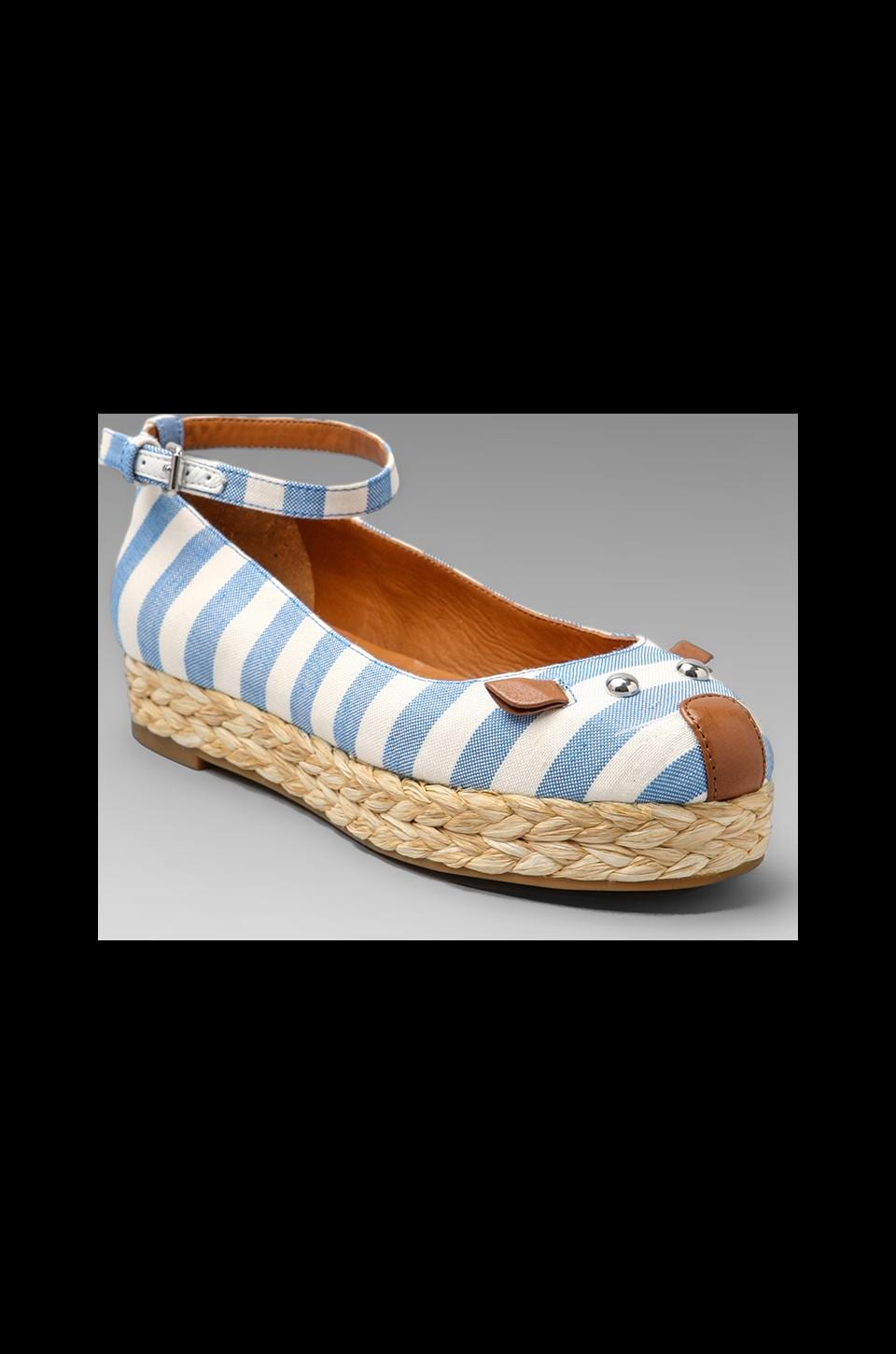 Marc by Marc Jacobs Striped Canvas Mouse Espadrille in Blue and Tan