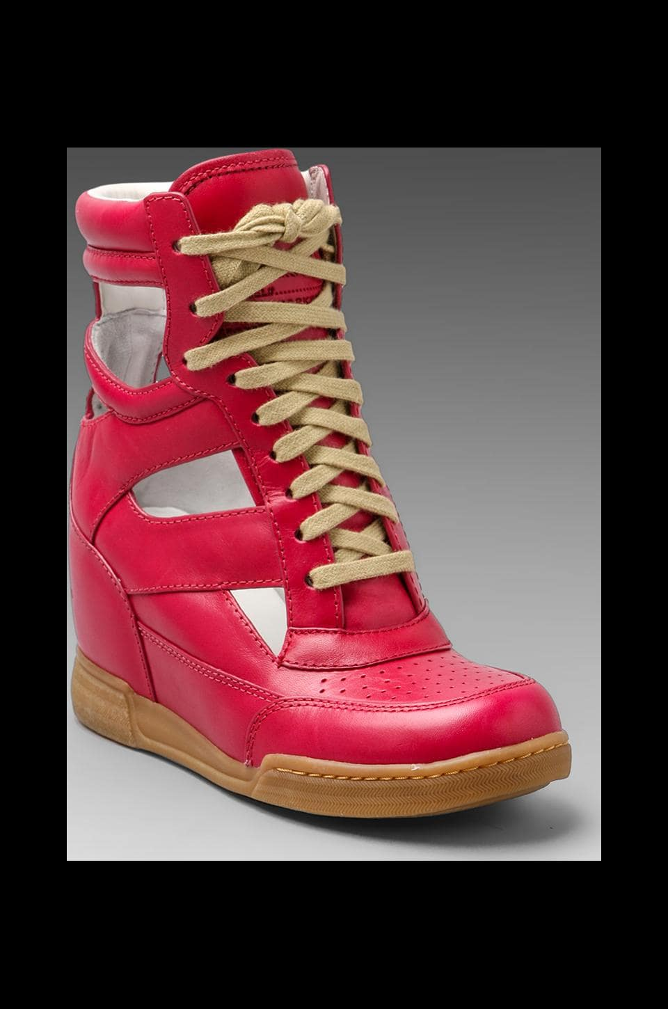 Marc by Marc Jacobs Cut Out Wedge Sneaker en Cerise