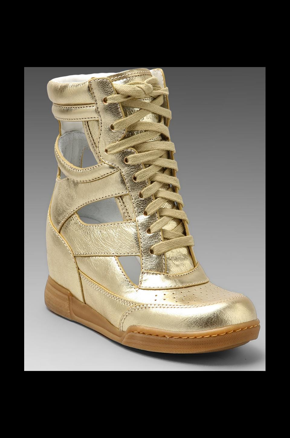 Marc by Marc Jacobs Metallic Cut Out Wedge Sneaker in Gold