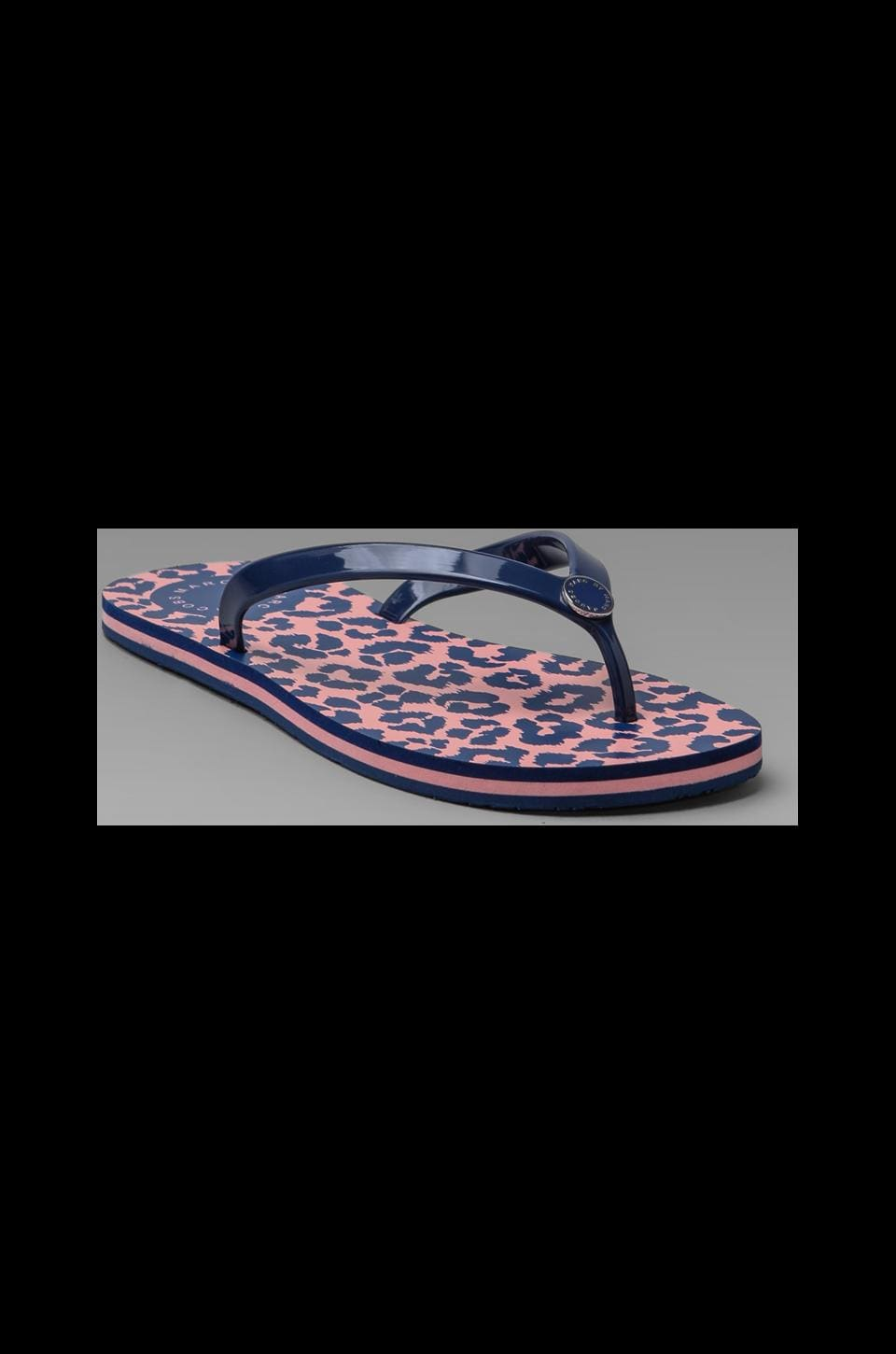 Marc by Marc Jacobs Rita the Cheetah Rubber Print Flip Flop in Blue Multi