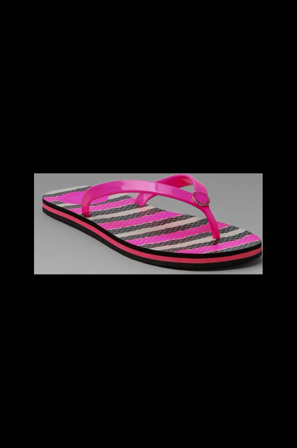 Marc by Marc Jacobs Rubber Flip Flop in Fluor Pink