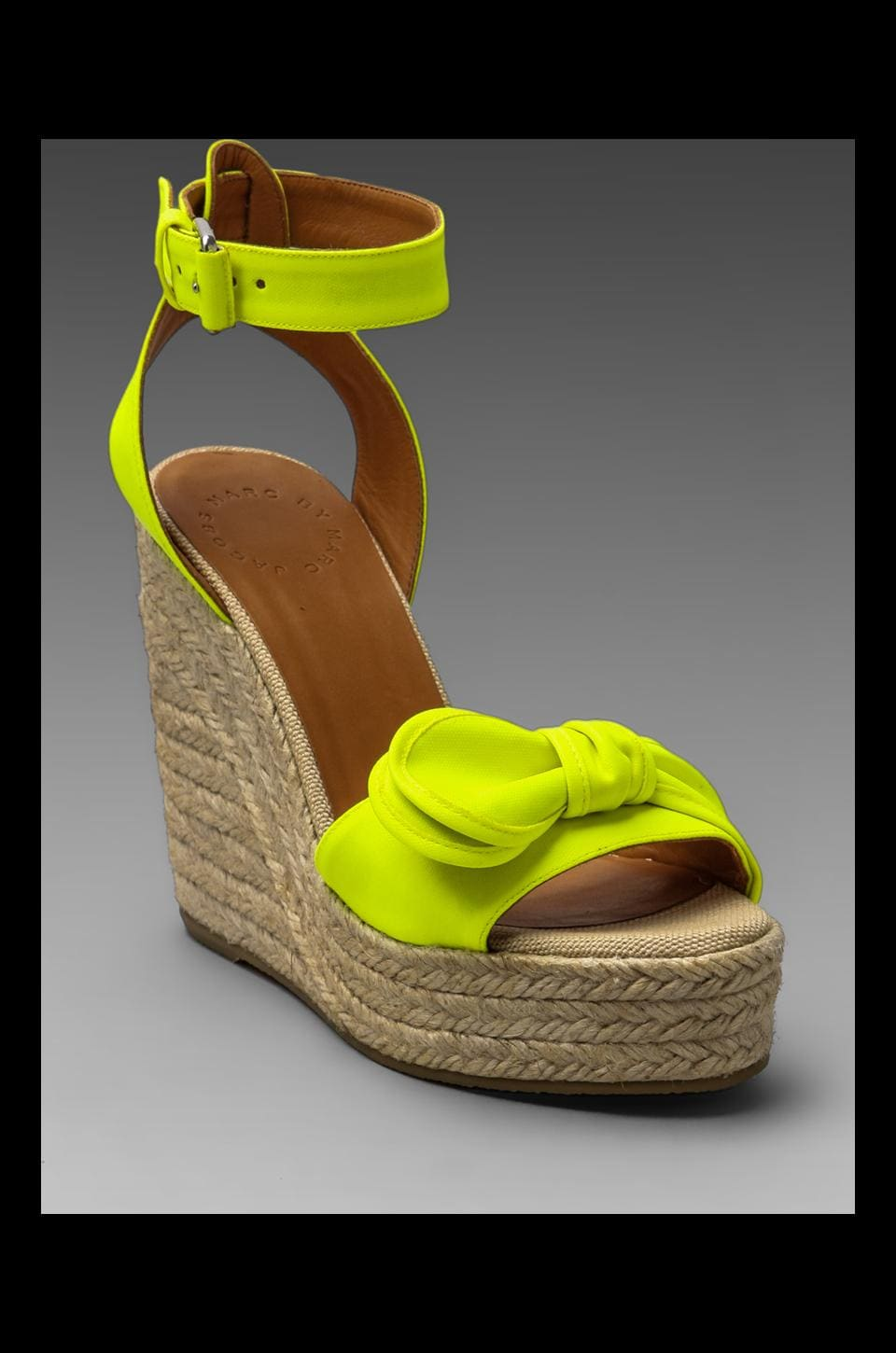 Marc by Marc Jacobs Pretty Knot Wedge Espadrille in Fluor Yellow