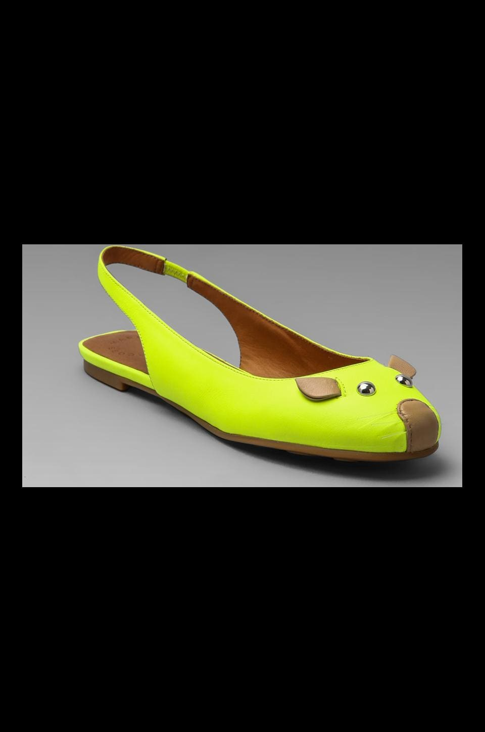 Marc by Marc Jacobs Mouse Sling Back Ballerina in Yellow and Nude