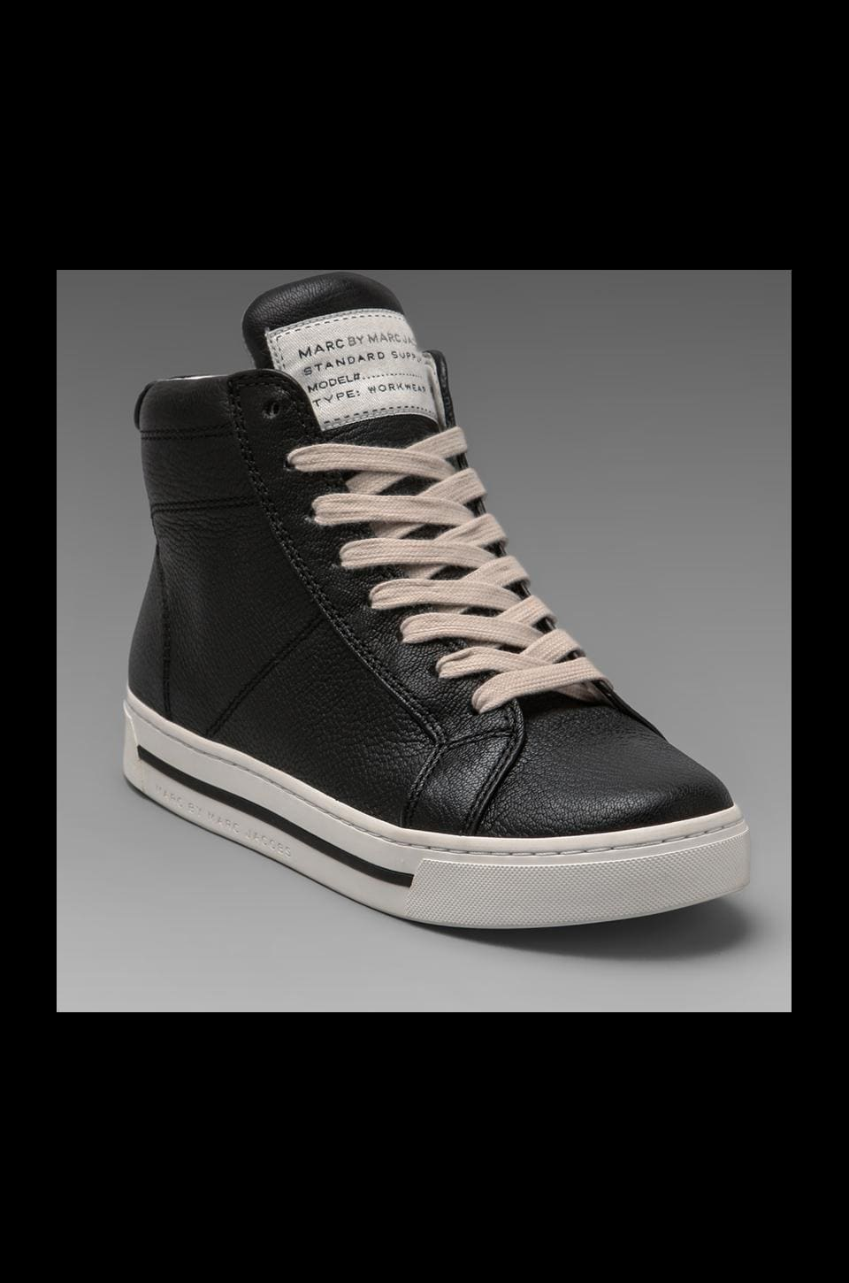 Marc by Marc Jacobs Glazed High Top Sneaker in Black