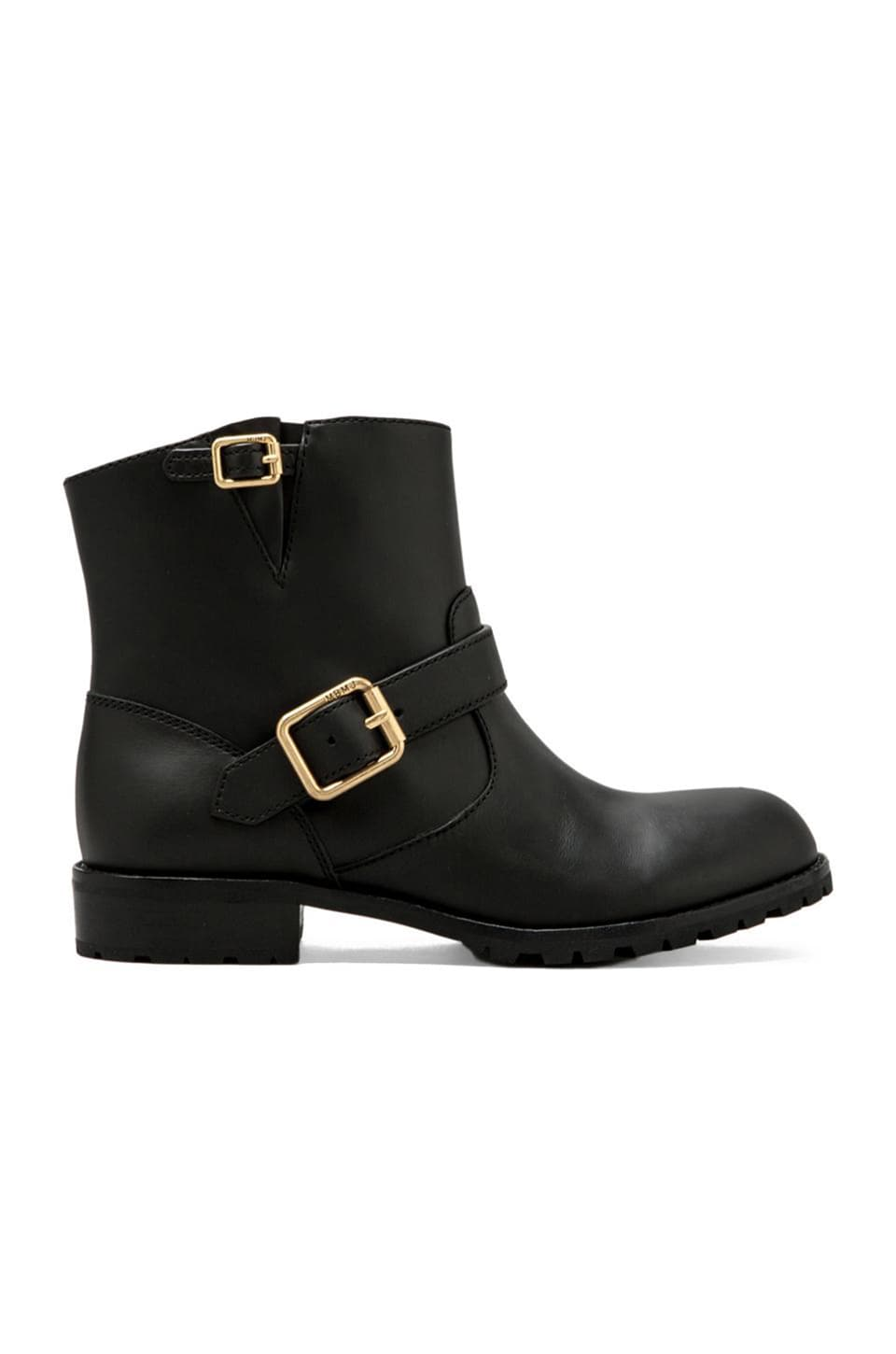 Marc by Marc Jacobs MBMJ Classics Heavy Calf Moto Boot in Black