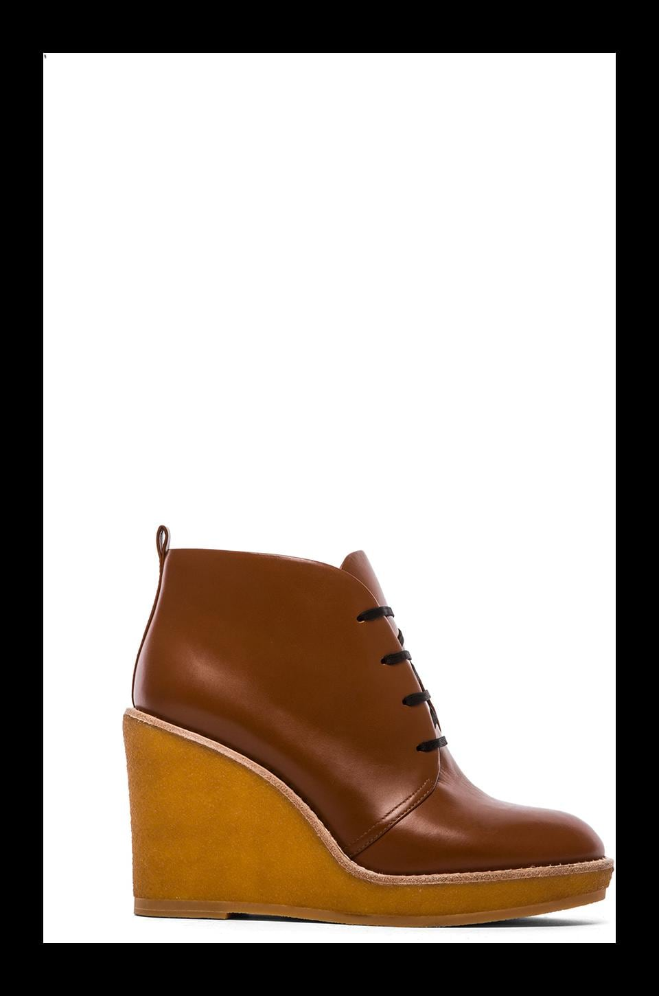 Marc by Marc Jacobs MBMJ Classics Half Calf + Crepe Boot in Tan/Natural