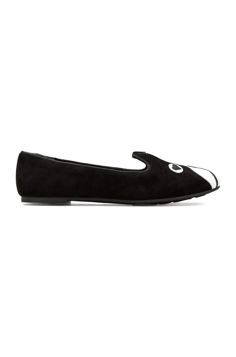 Marc by Marc Jacobs Friends of Mine Suede Slipper in Black