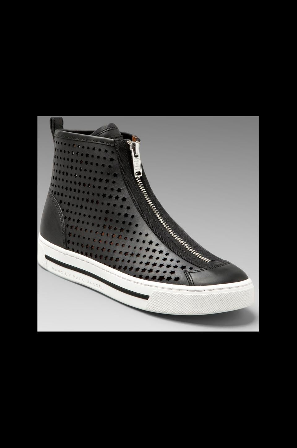 Marc by Marc Jacobs Star Struck Heavy Calf Perforated Sneaker in Black