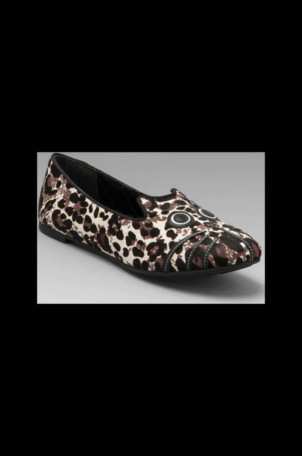 Marc by Marc Jacobs Friends of Mine Pony Slipper with Calf Hair in Elephant Grey Multi