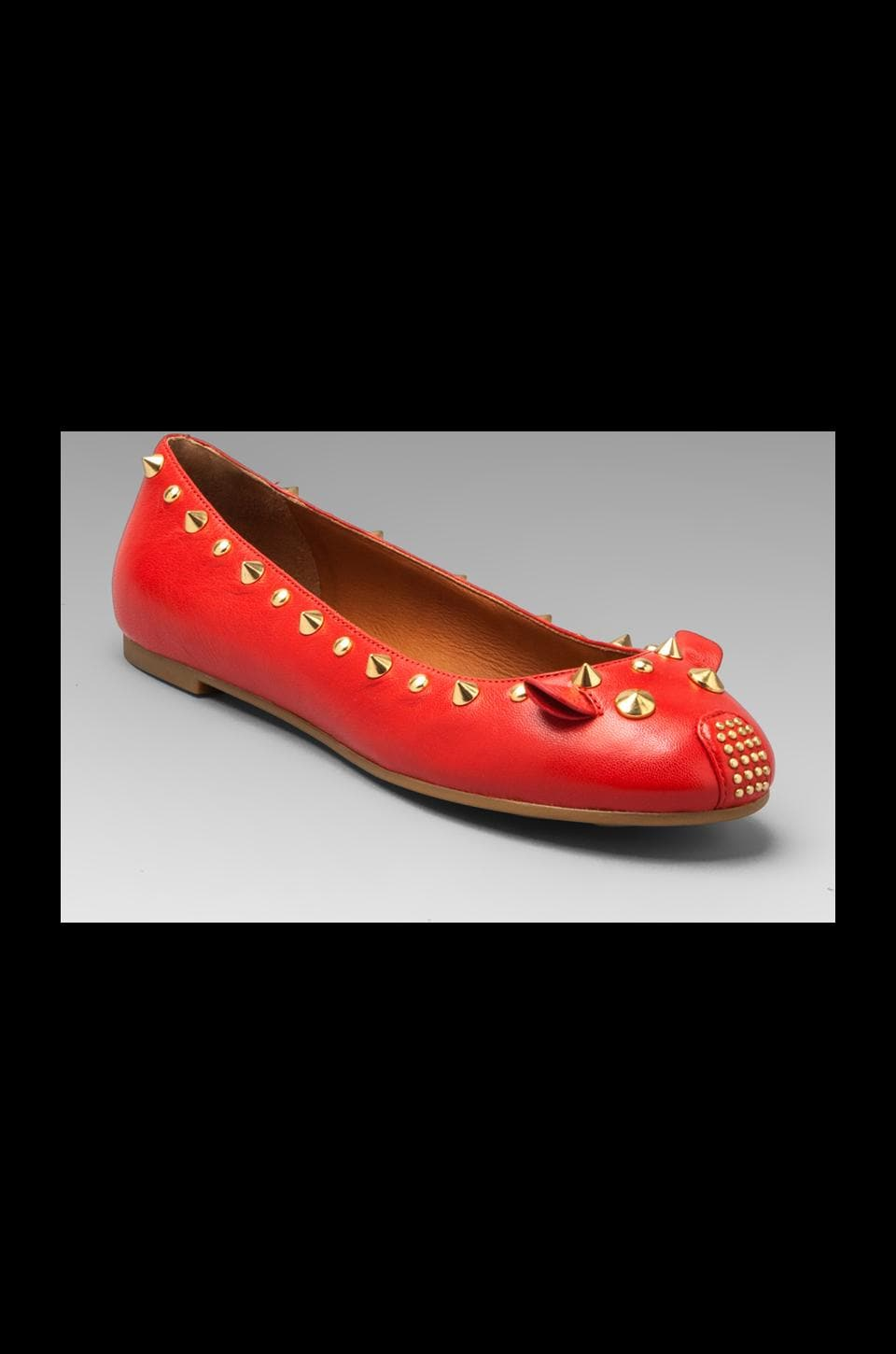 Marc by Marc Jacobs Mouse Nappa Ballerina Flat in Red