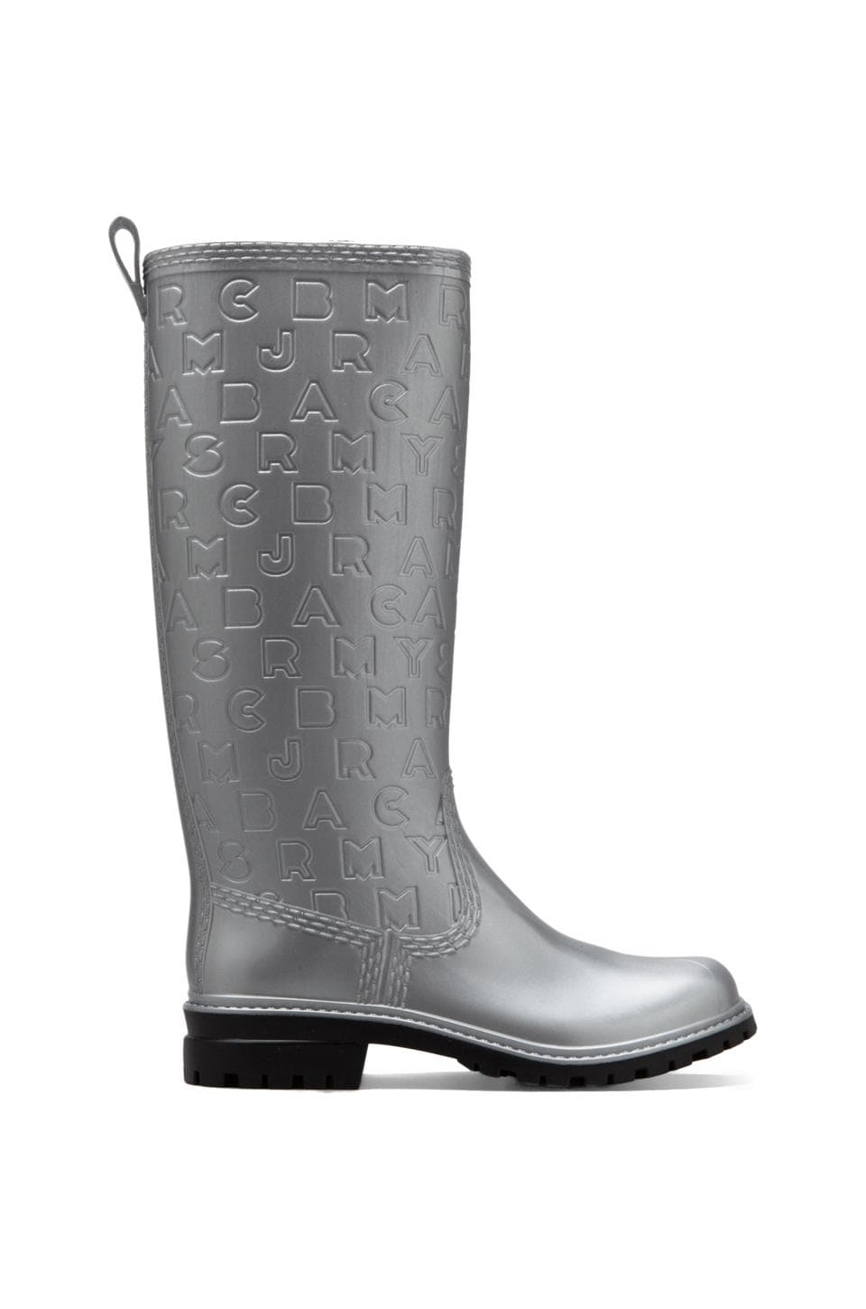Marc by Marc Jacobs Rainy Day Rubber Rainboot in Silver