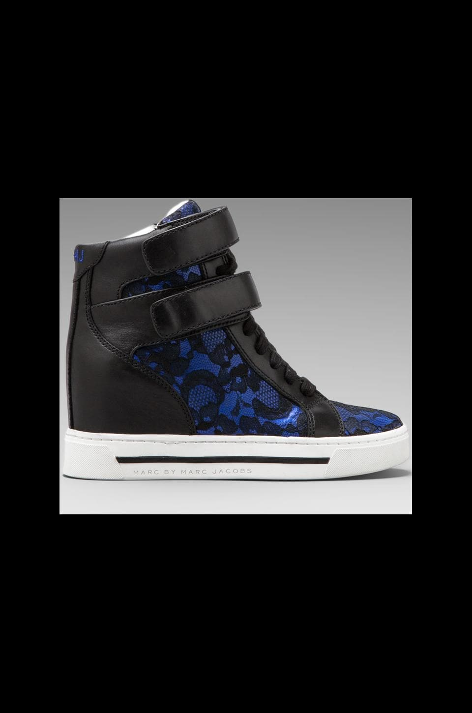 Marc by Marc Jacobs Lace + Heavy Calf Sneaker in Blue