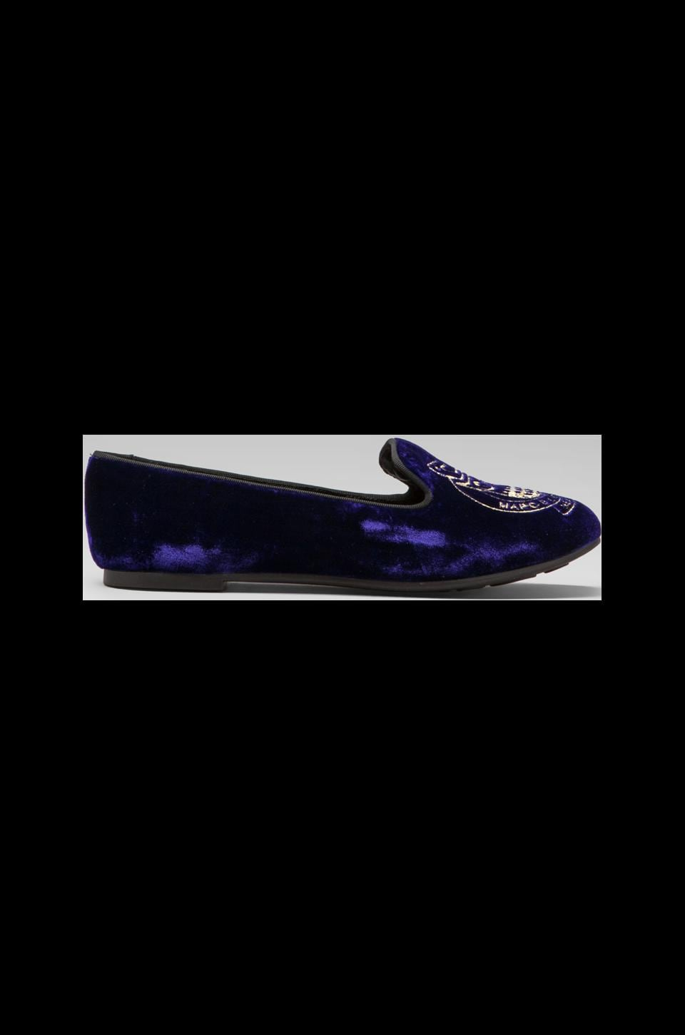 Marc by Marc Jacobs Friends of Mine 10mm Slipper Loafer in Purple/Gold