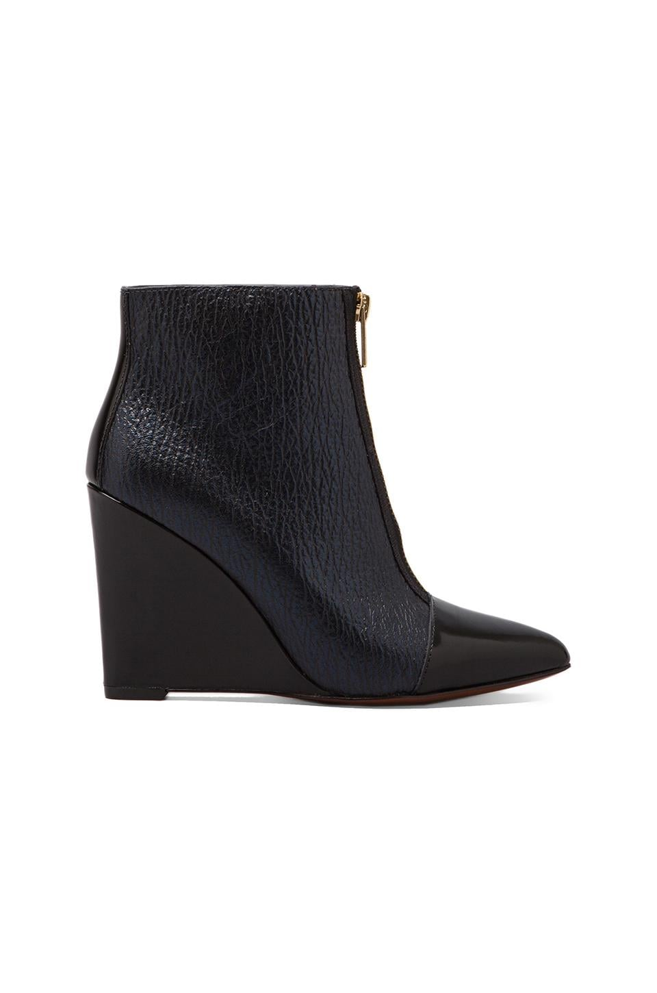Marc by Marc Jacobs On Point 95mm Boot Wedge in Blue/Black