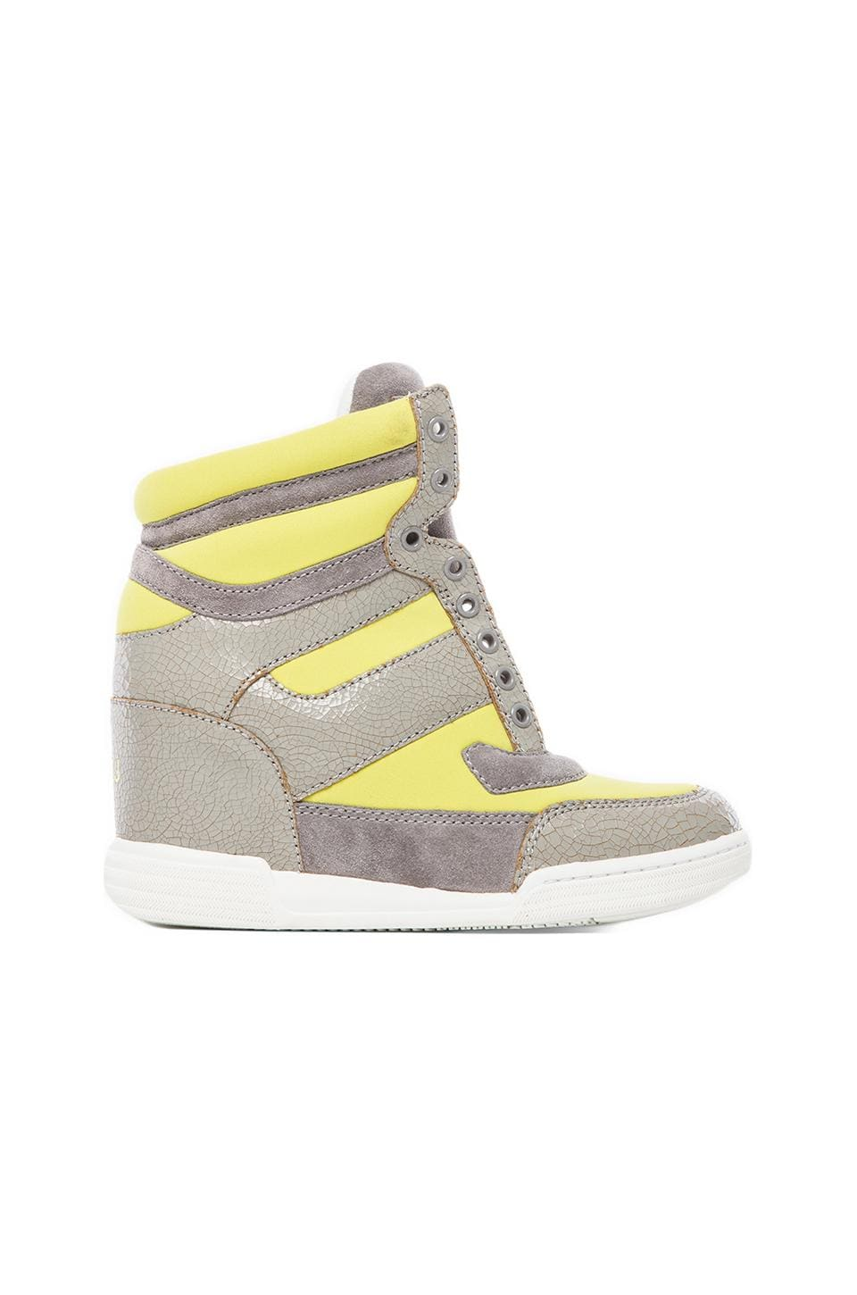 Marc by Marc Jacobs Sneaker Wedge in Yellow & Grey