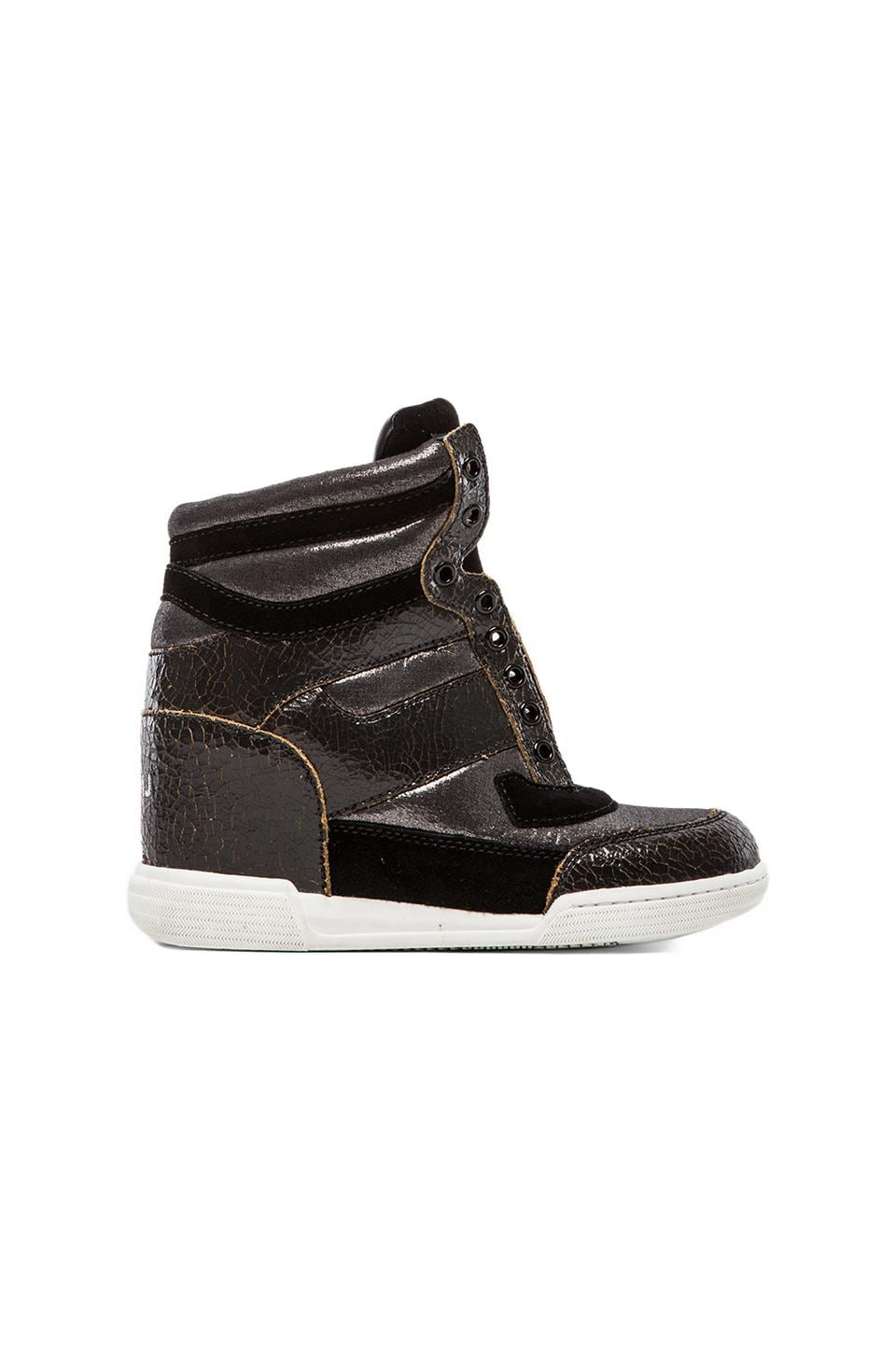 Marc by Marc Jacobs Sneaker Wedge in Gunmetal & Black
