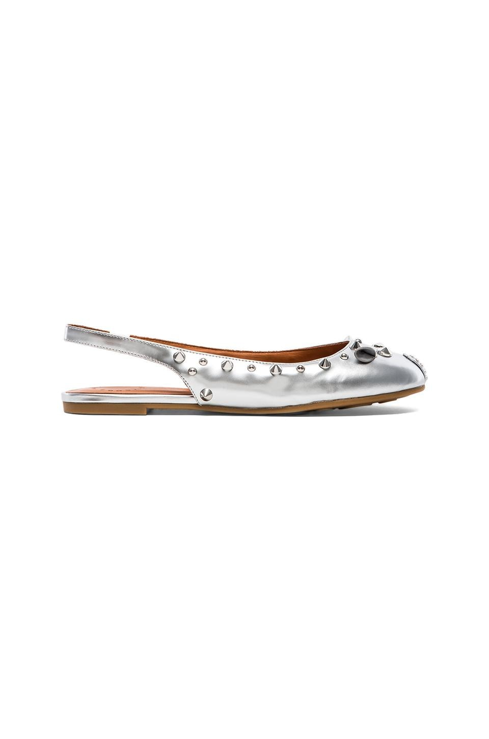 Marc by Marc Jacobs Reflective Mouse Ballerina Flat in Silver