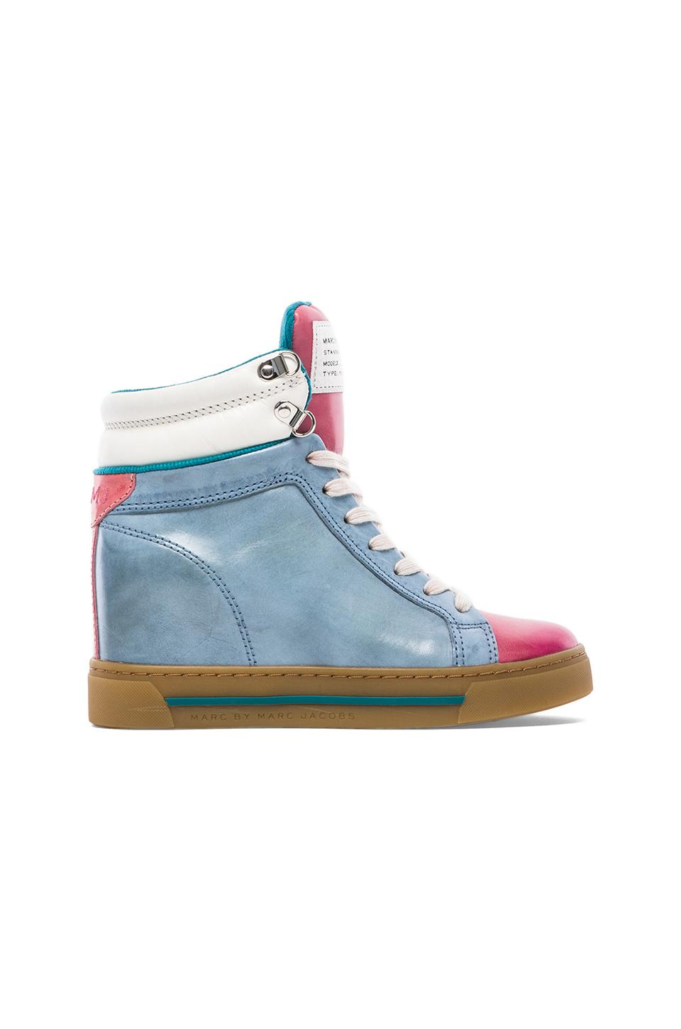 Marc by Marc Jacobs Cute Kicks Sneaker Wedge in Raspberry & Blue & White & Coral