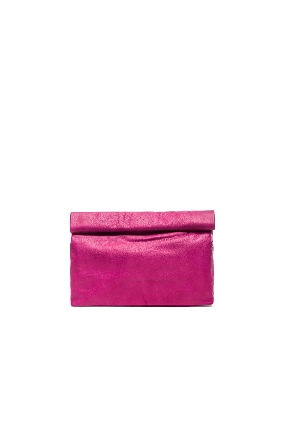 Marie Turnor The Lunch Clutch in Pebble Hot Pink