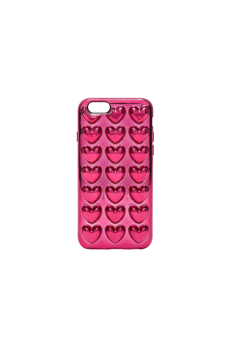 Marc Jacobs Metallic Heart iPhone 6S Case in Magenta
