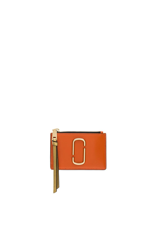 Marc Jacobs Top Zip Multi Wallet in New Orange Multi