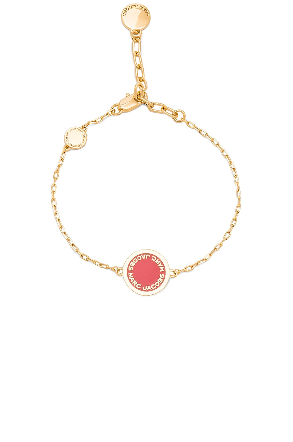 Marc Jacobs Enamel Logo Disc Bracelet in Red